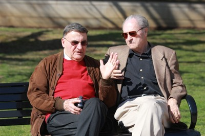 Emeritus faculty Gerhard Strasser and Manfred Keune