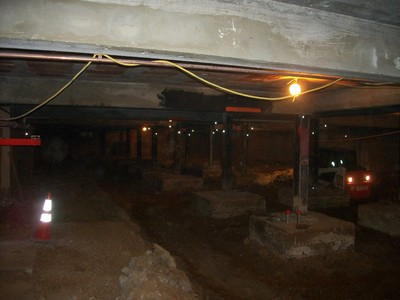 Basement excavation work
